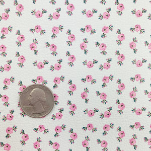 Dainty Rose Floral Vegan Leather