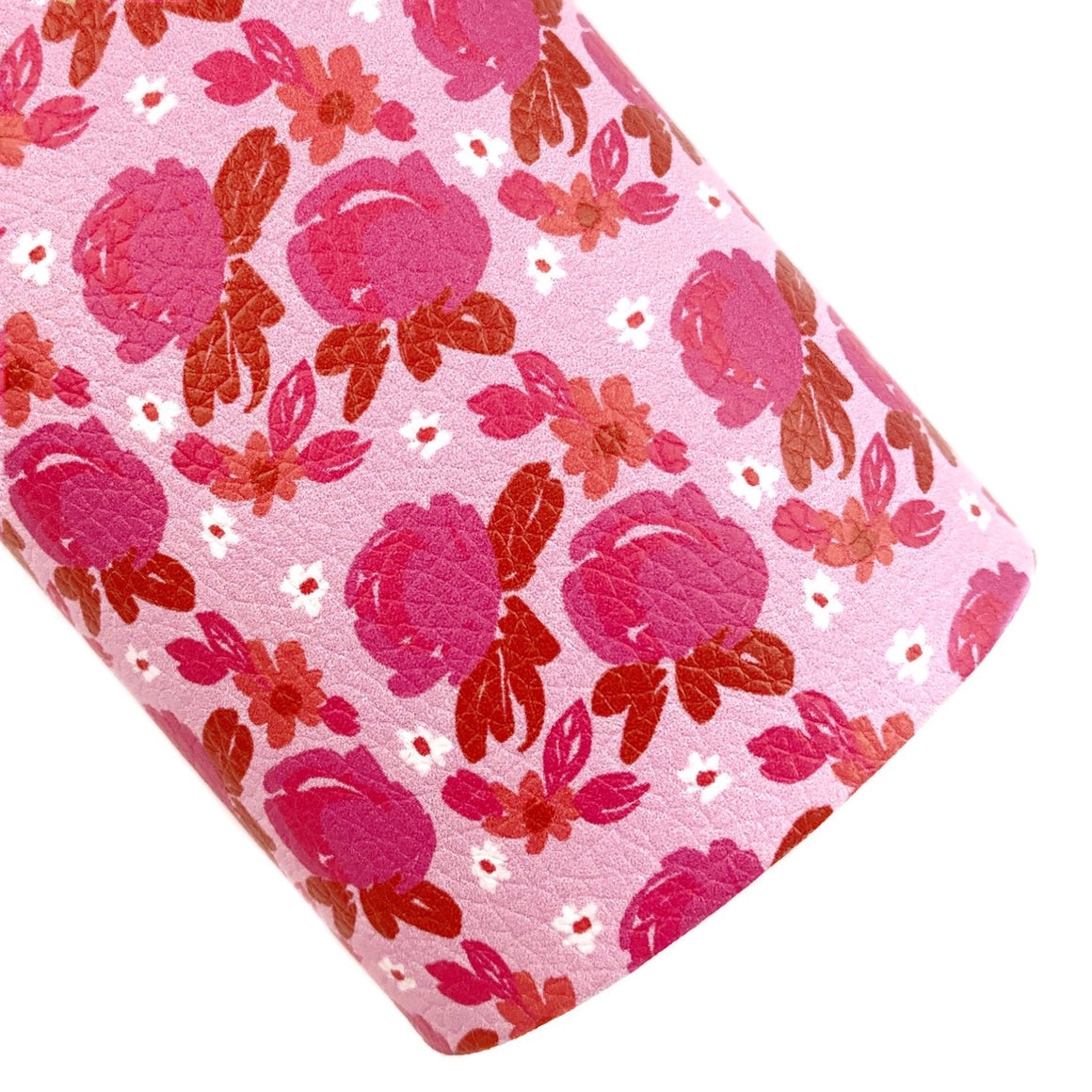 Perfectly Pink Floral Vegan Leather