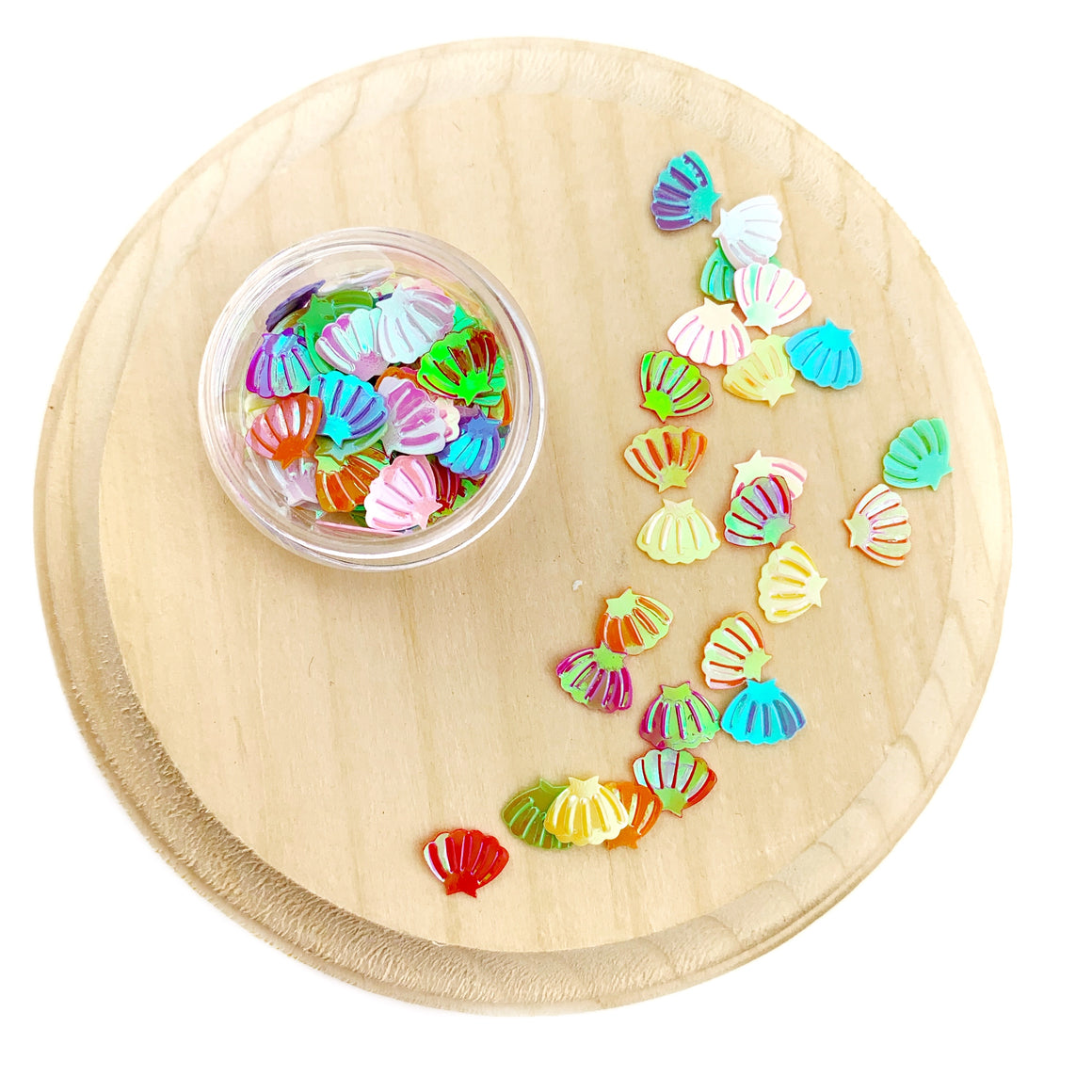 Rainbow Seashell Sequins Confetti Pieces