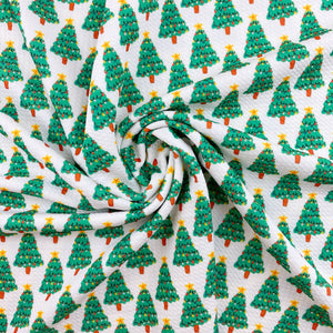Decorated Christmas Tree Bullet Fabric