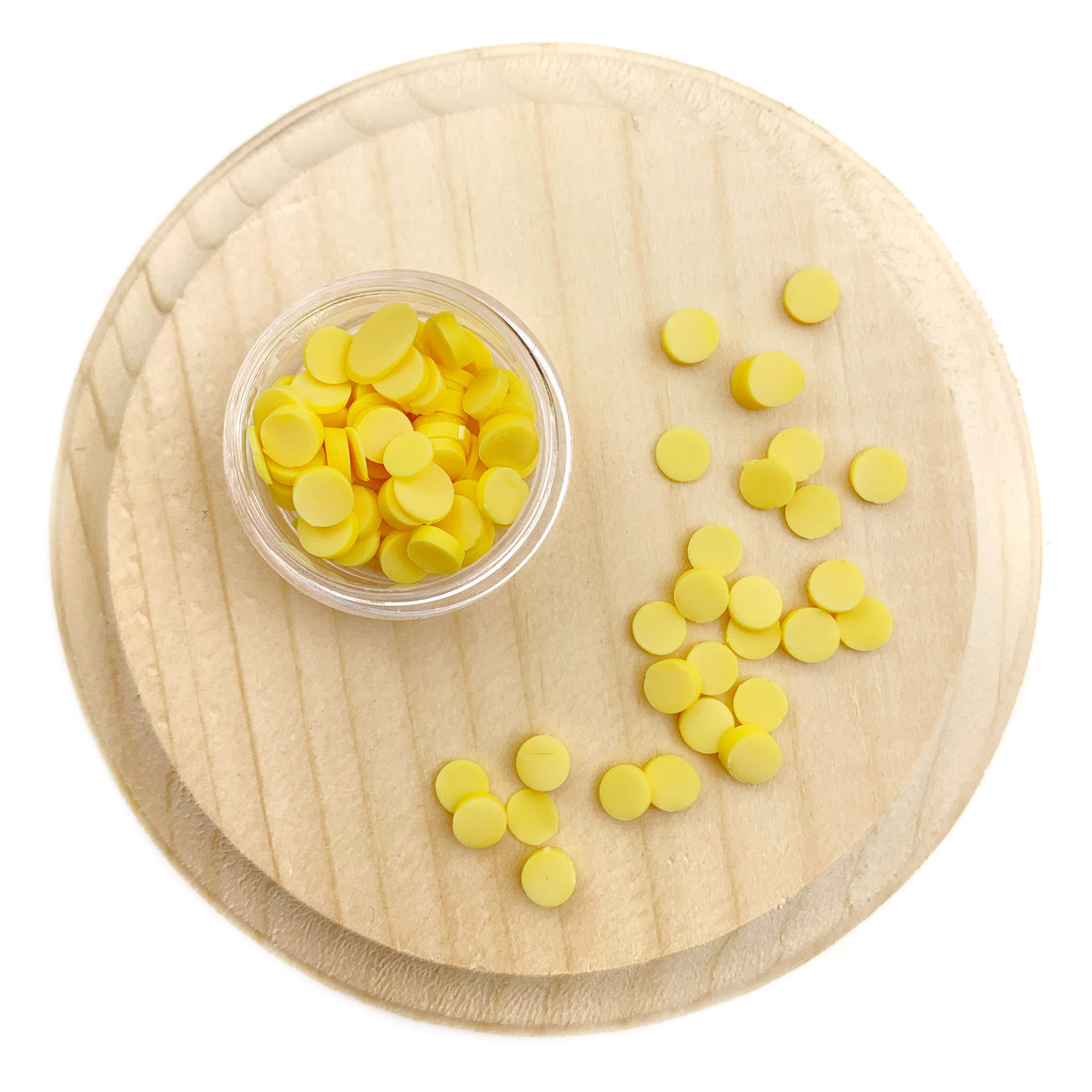 Yellow Round Sprinkles Polymer Clay Pieces