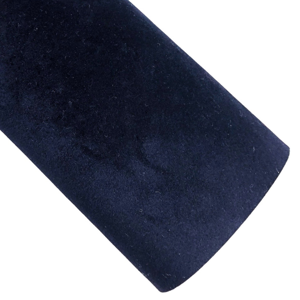 Richest Navy Velvet Vegan Leather