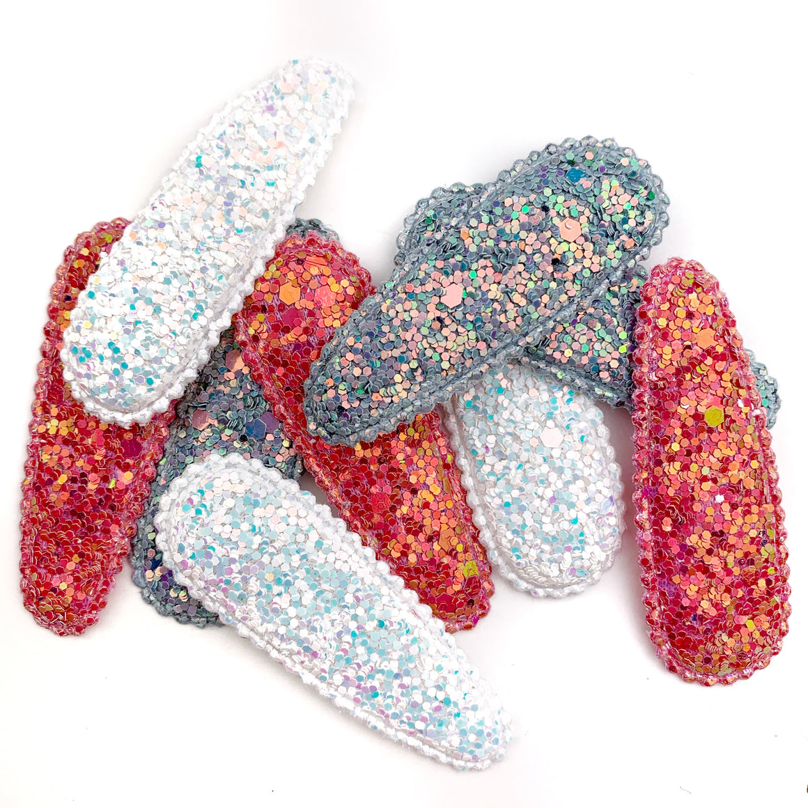 Set of 3 Glitter Snap Clip Covers