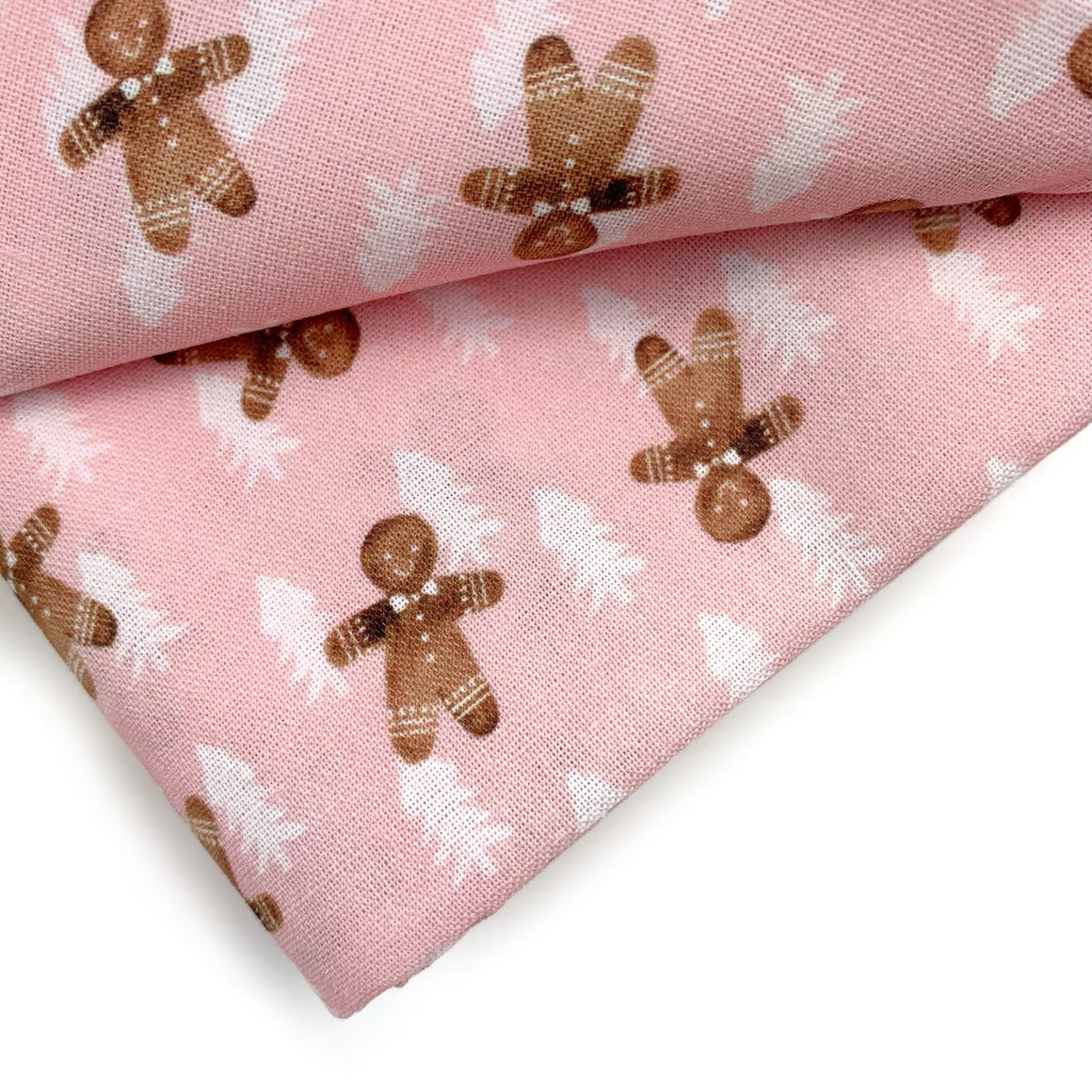 Winter Gingerbread Cotton Fabric