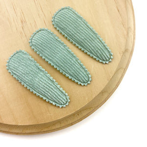 Set of 3 Corduroy Snap Clip Covers