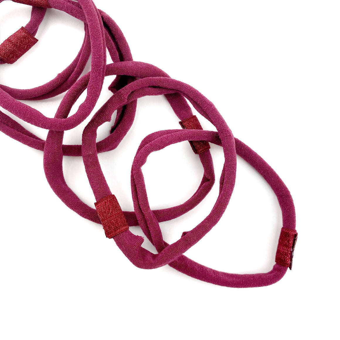 Burgundy Nylon Interchangeable Headband