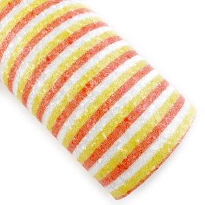 Candy Corn Stripes Chunky Glitter