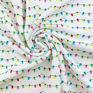 Colorful Christmas Lights Bullet Fabric