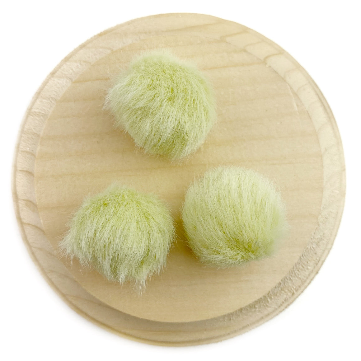 Set of 3 Bartlett Pear Faux Fur Pom Poms