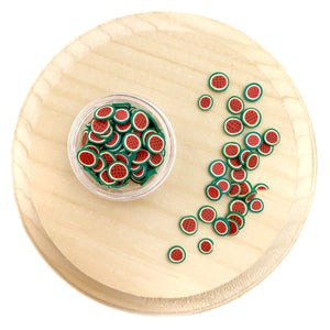Watermelon Rounds Polymer Clay Pieces