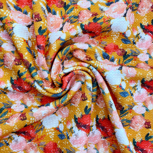 Awe of Autumn Floral Bullet Fabric