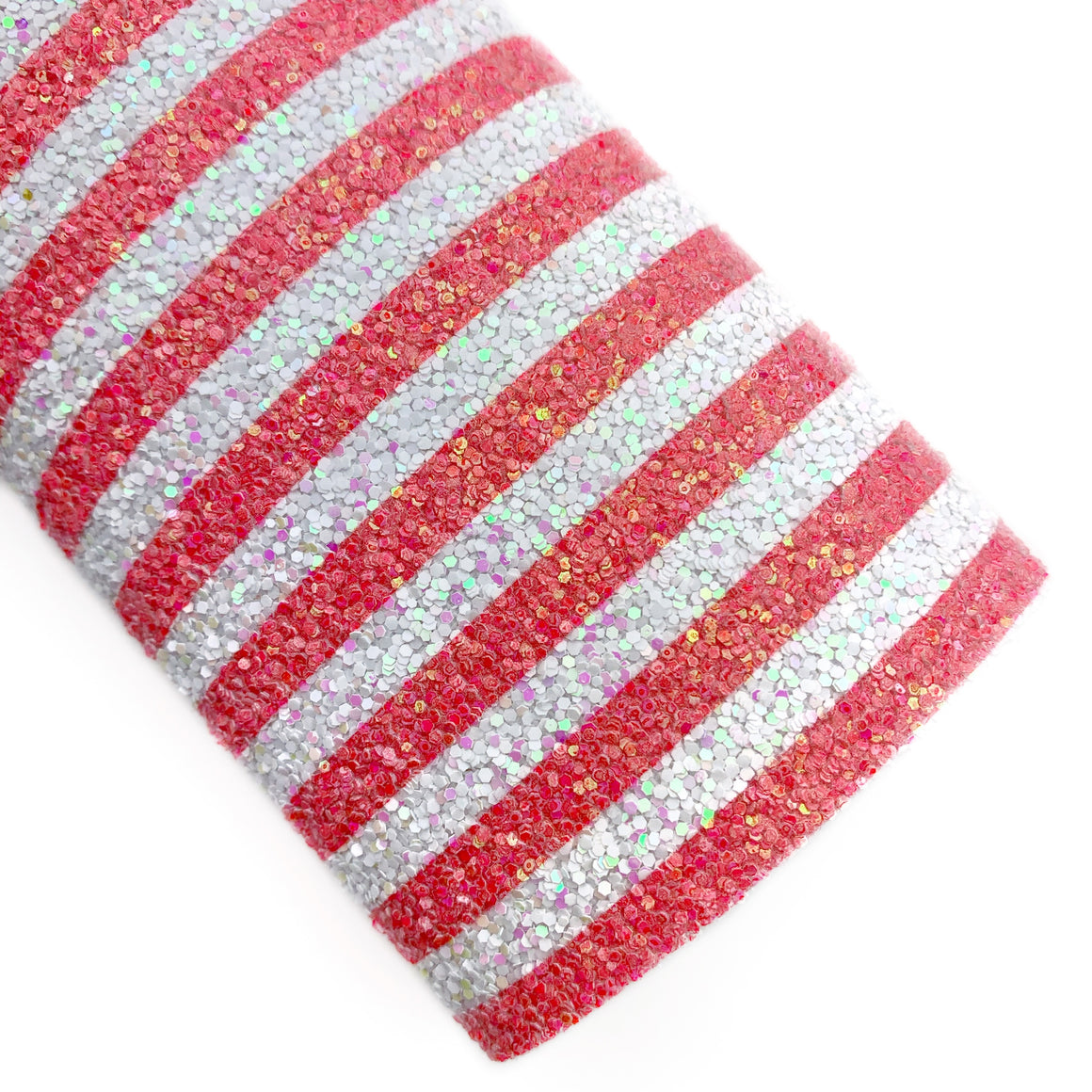 Watermelon Stripes Iridescent Chunky Glitter
