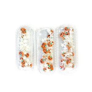 Pumpkins and Stars Glow in the Dark Mix Shaker Snap Clip Covers