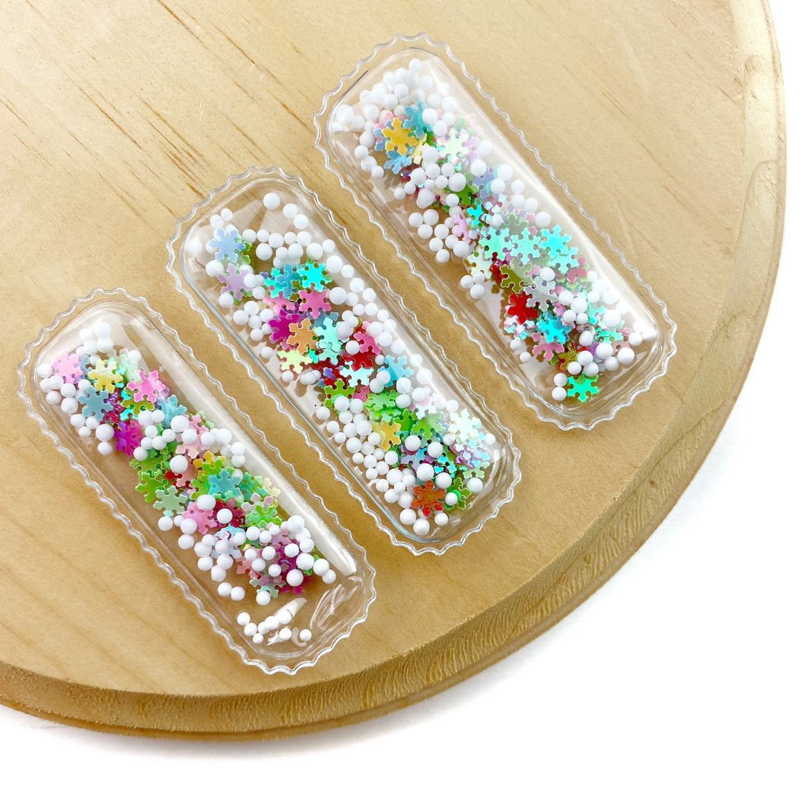 Multi Snow Globe Shaker Snap Clip Covers