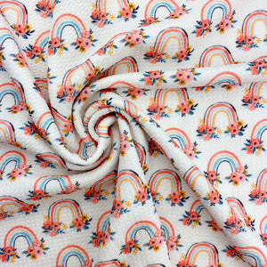 Floral Rainbows Bullet Fabric