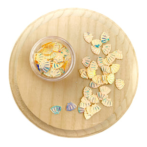 Pale Yellow Seashell Sequins Confetti Pieces