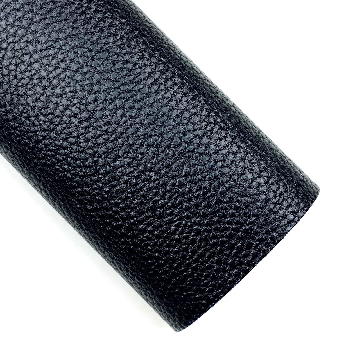 Jet Black Pebbled Vegan Leather