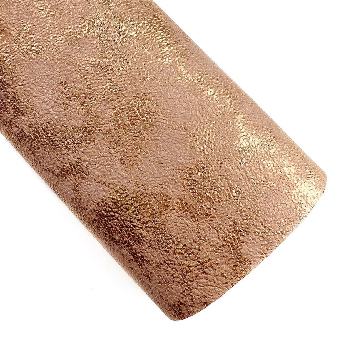Blush Royal Metallic Embossed Vegan Leather