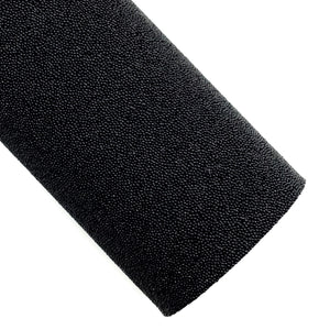 Black Glitter Pearled Fabric