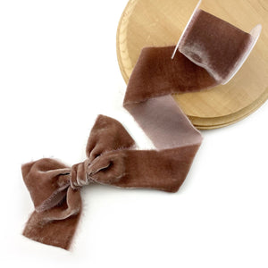 Cafe Raw Edge Silk Velvet Ribbon