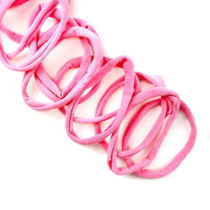 Sweet Pink Nylon Head Band