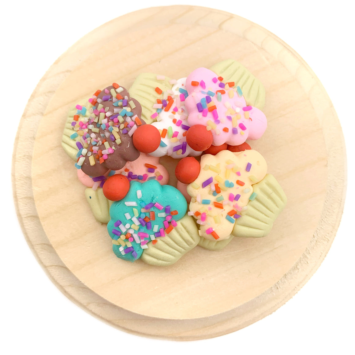 Cupcake Polymer Clay Pieces