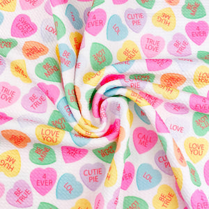 Conversation Hearts Bullet Fabric