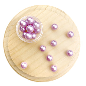 Purple Imitation Pearl Resin