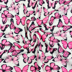 Pink Watercolor Monarch Bullet Fabric