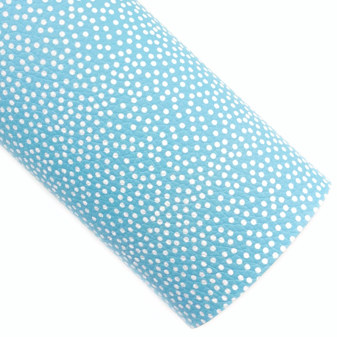 Blue Scattered Dots Vegan Leather