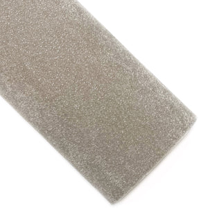 Twinkle Taupe Glitter Velvet Vegan Leather