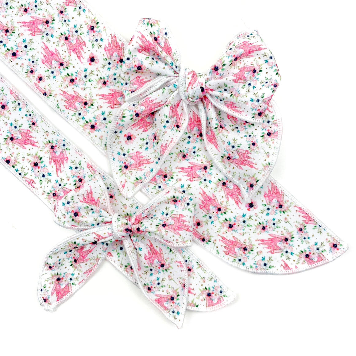 Fairytale Floral JB Effortless Bow Strips - Serged Edge