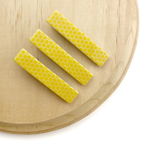 Set of 3 Honeycomb Acrylic Alligator Hair Clips