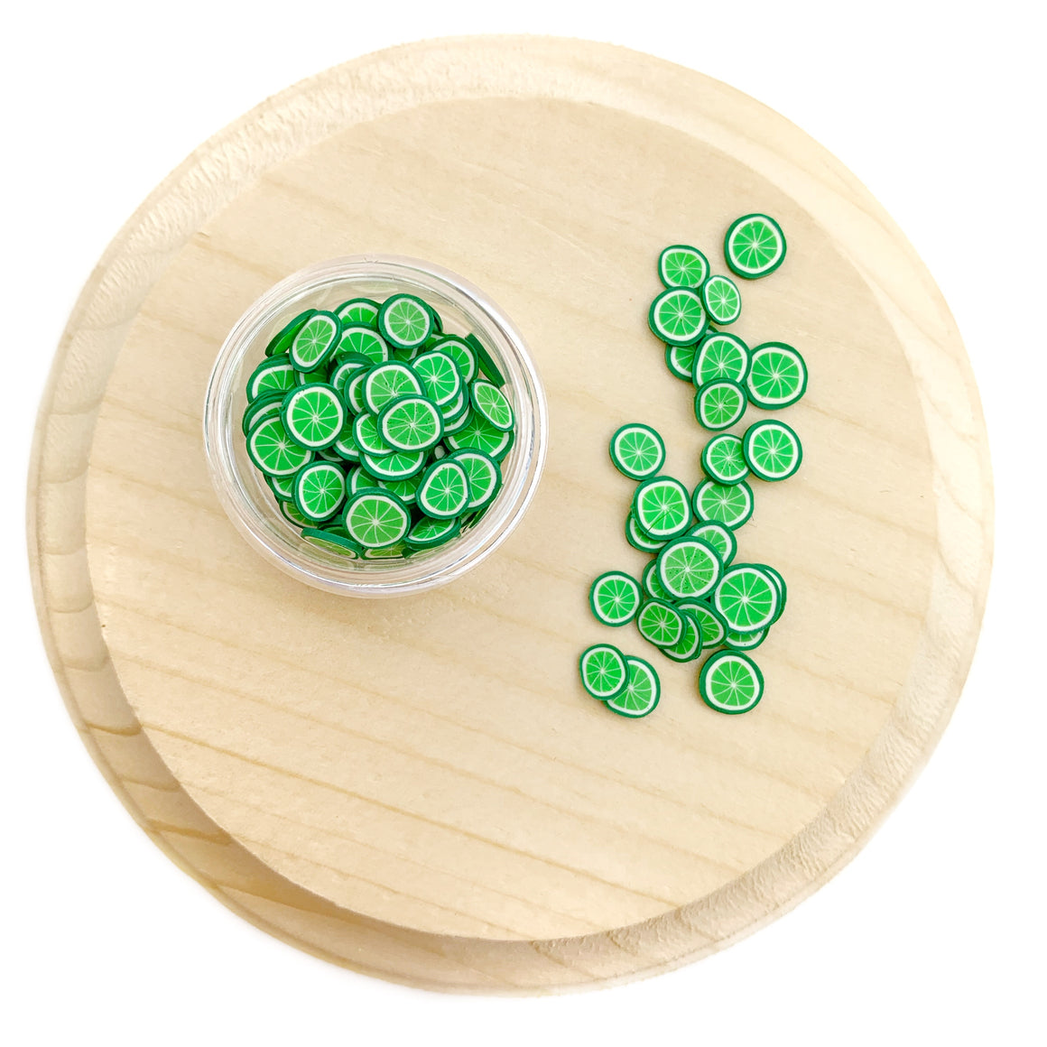 Lime Polymer Clay Pieces