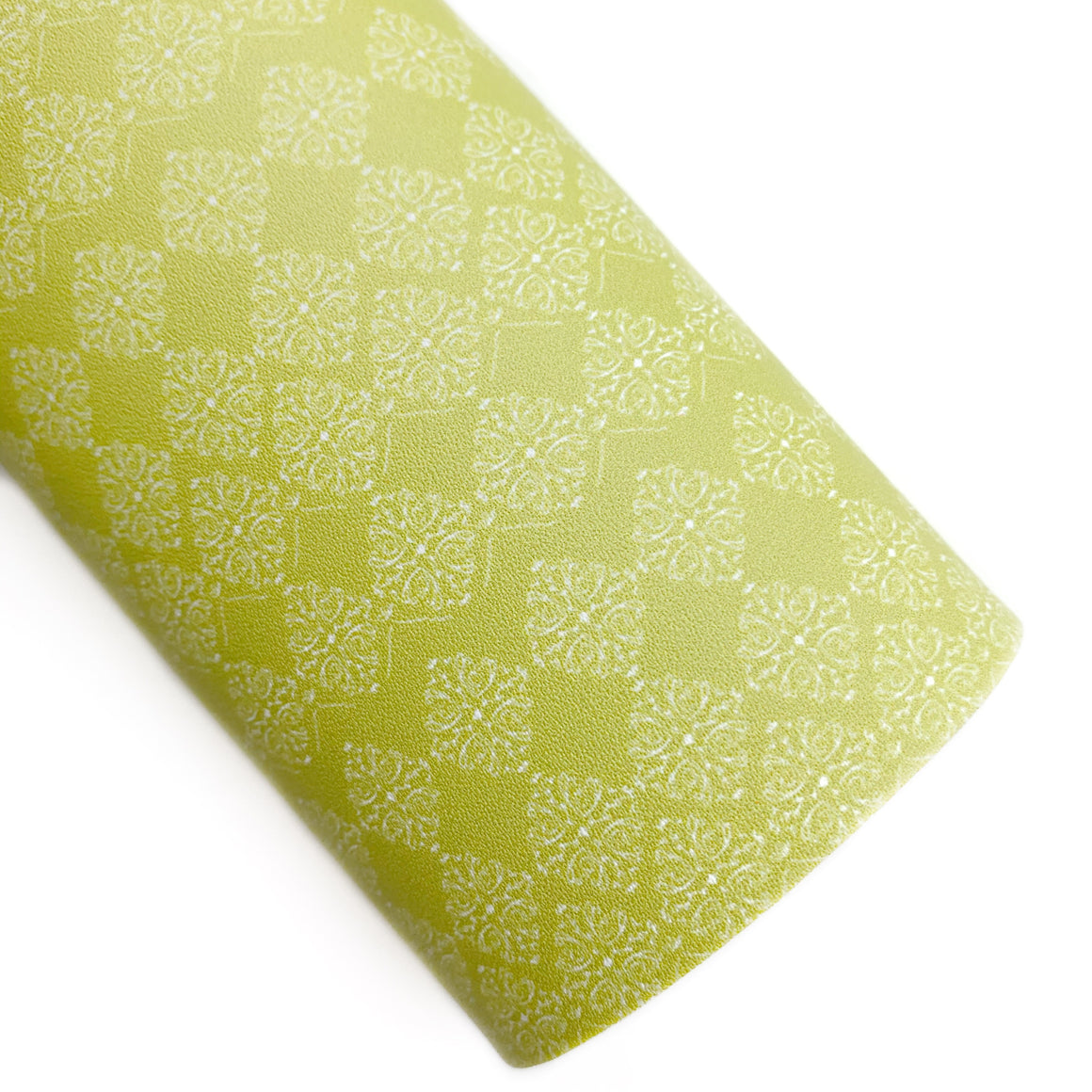 Chartreuse Pottery Print Vegan Leather