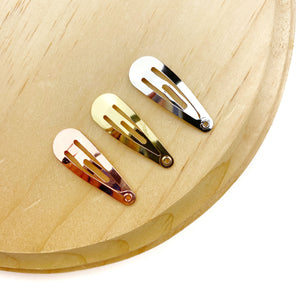 Set of 3 - 1.25in Tear Drop Snap Clips