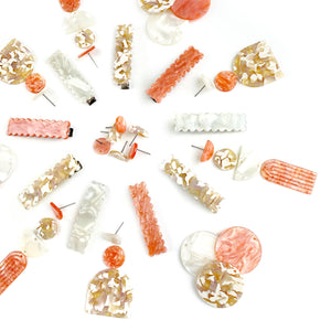 Fall Coral Earring Stud Pieces