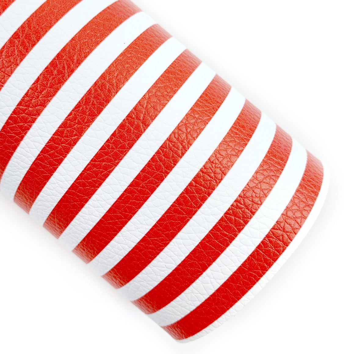 Bold Red Stripes Vegan Leather