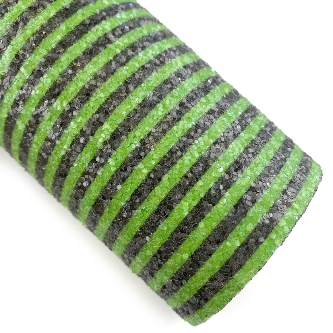 Monster Green Stripes Chunky Glitter