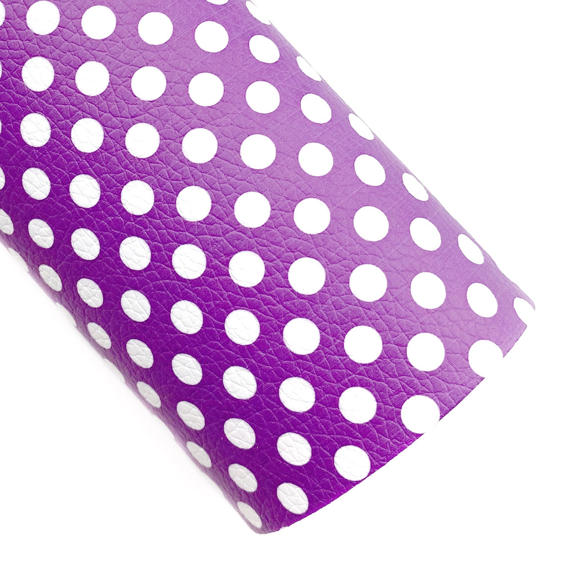 Purple Polka Dots Vegan Leather