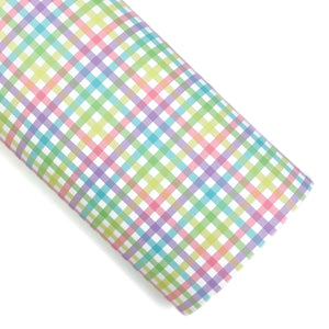 Easter Bunny Gingham Vegan Leather