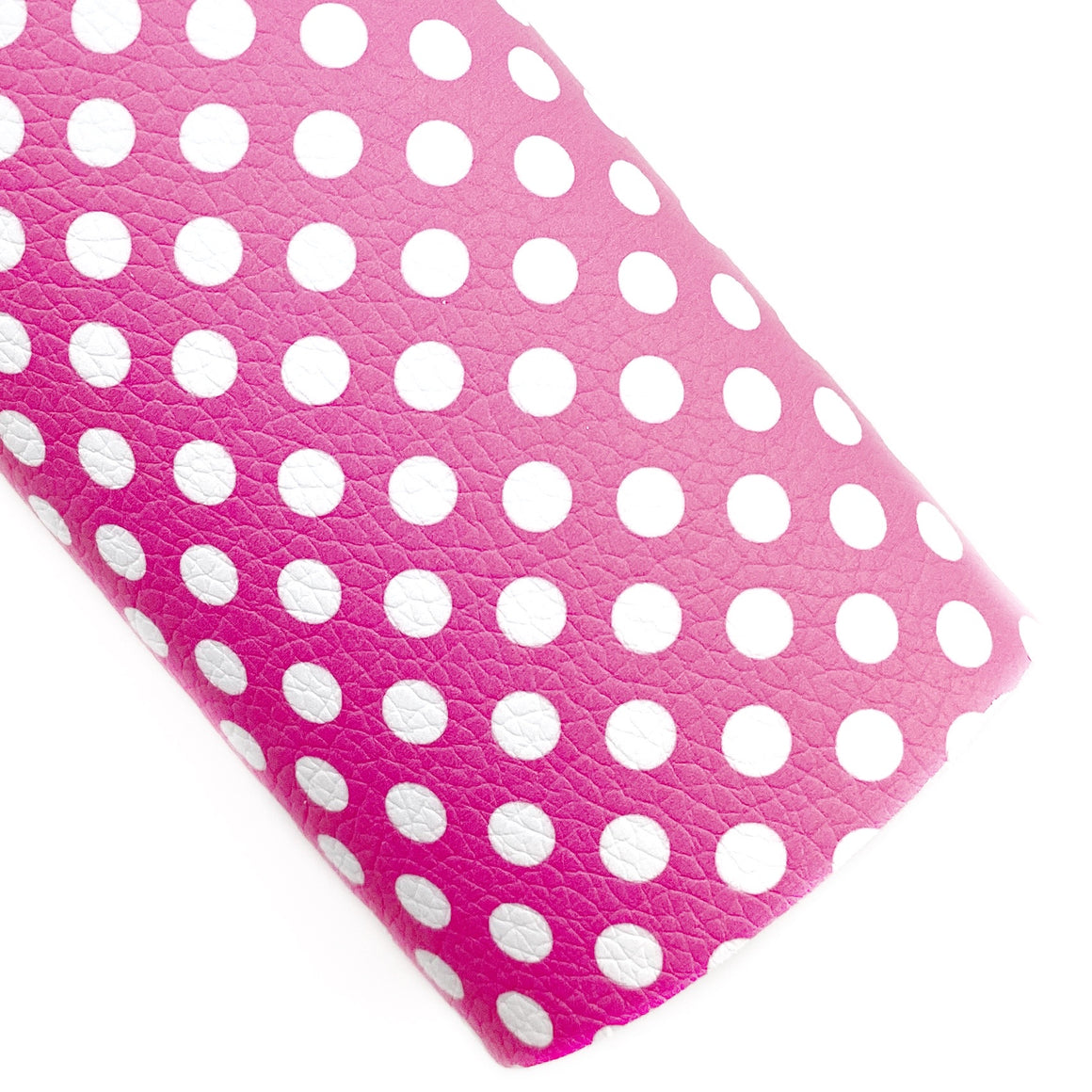 Pink Polka Dots Vegan Leather