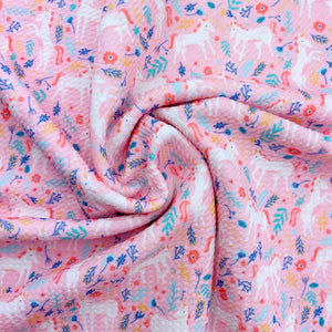Pink Fairytale Unicorns Bullet Fabric