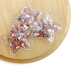 Primary Rainbow Mix Star Shaker Appliques