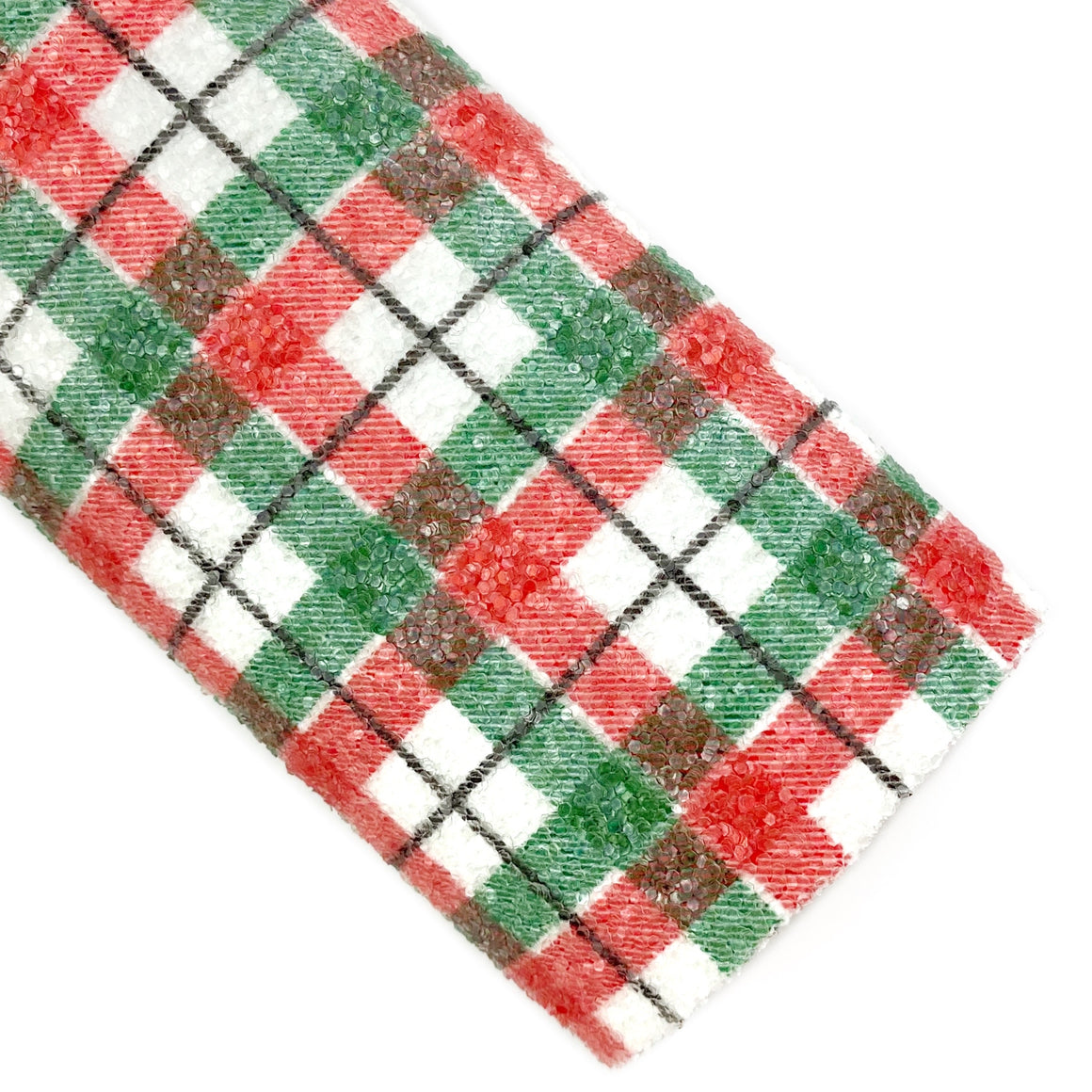 Christmas Spirit Plaid Chunky Glitter