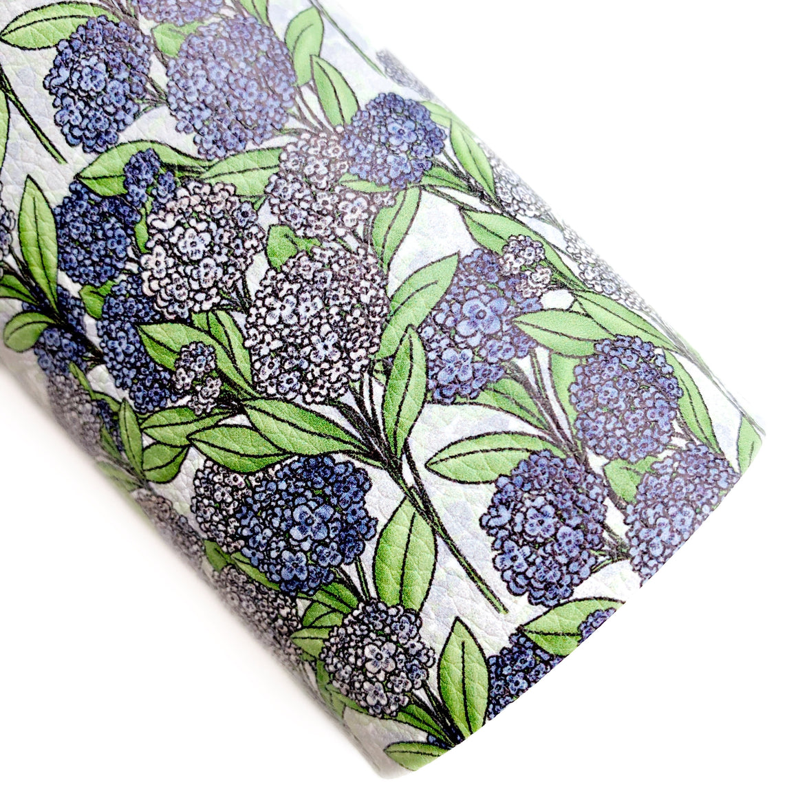 Blue Hydrangeas Vegan Leather