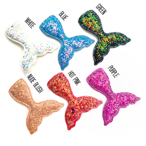 Set of 3 Glittered Mermaid Tails Appliques