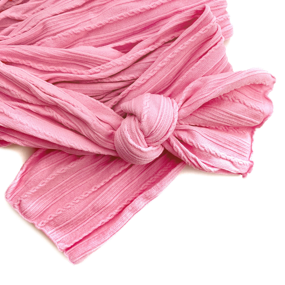 Sweet Pink Braid Knit Nylon Material