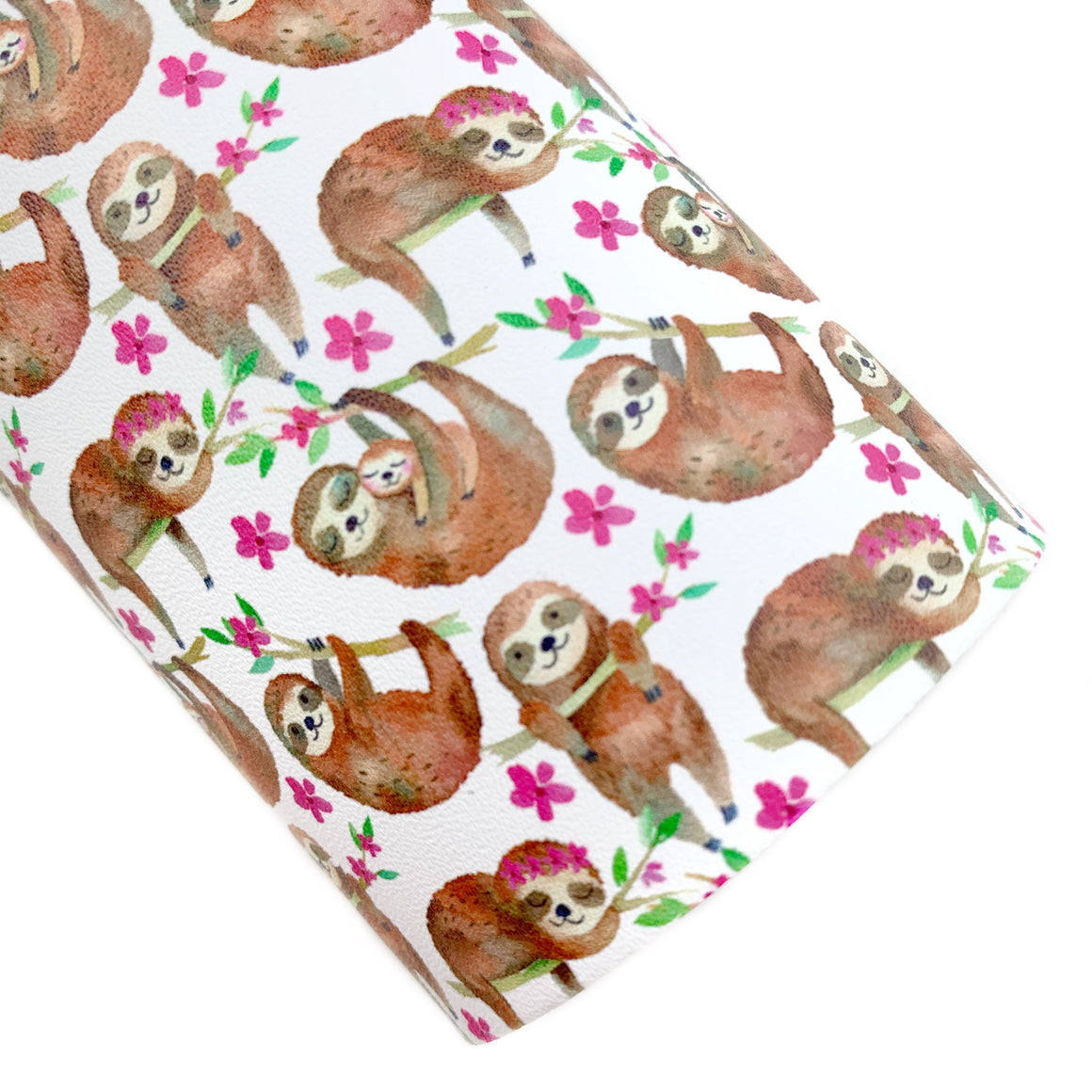Sleepy Sloths Vegan Leather