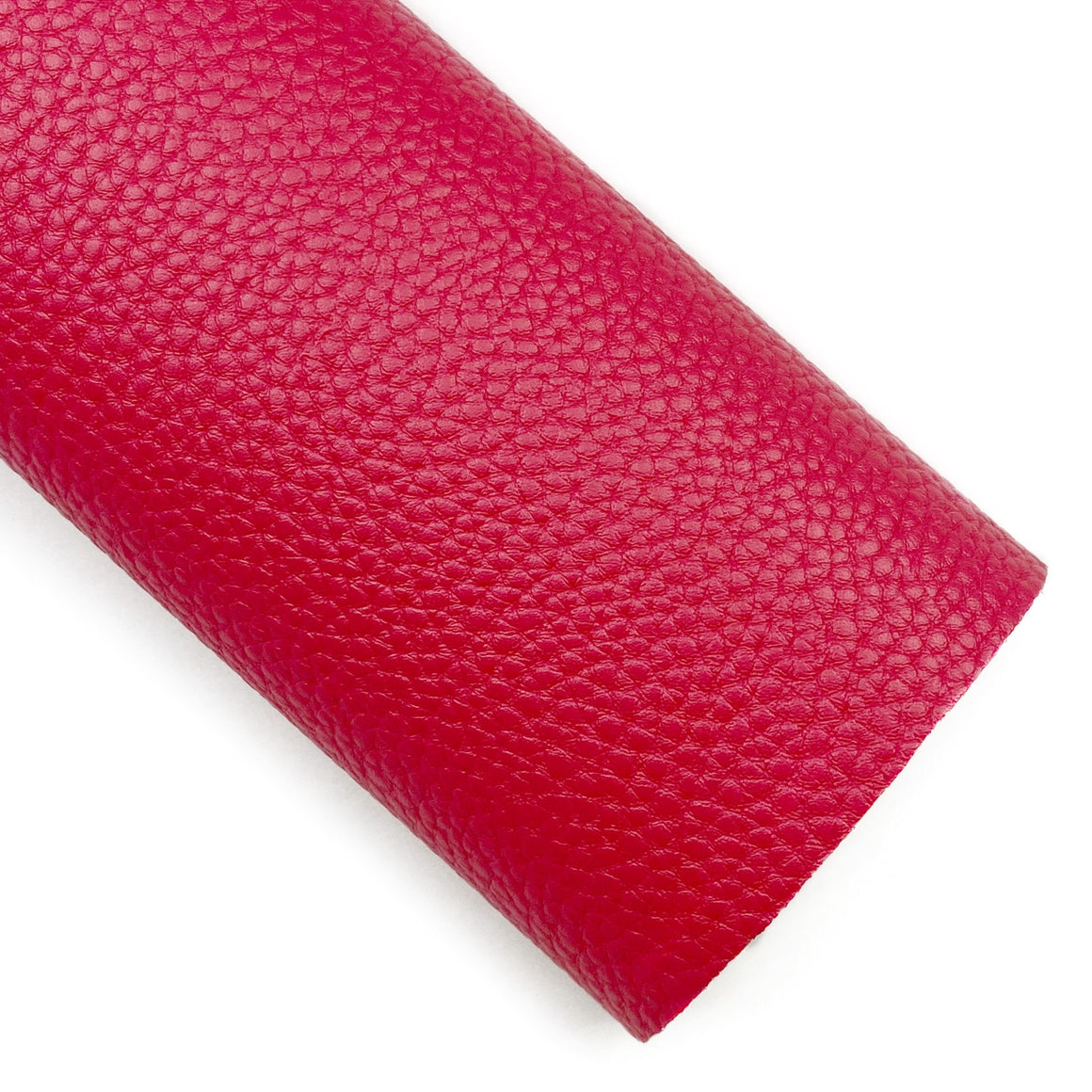 Red Pebbled Vegan Leather